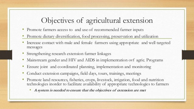 the recent experience on agricultural extension Editor's page exploring innovation in extension in a welcome statement, we, the journal of extension special issue on innovation 2018 guest editors, invite readers to explore this issue's.