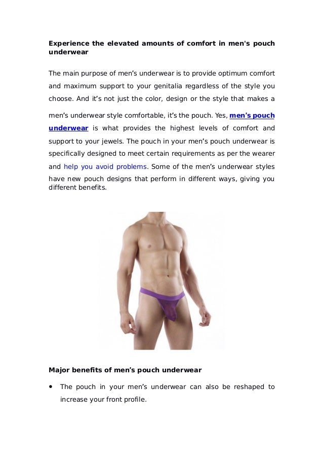 b56ab917d Experience the elevated amounts of comfort in men s pouch underwear