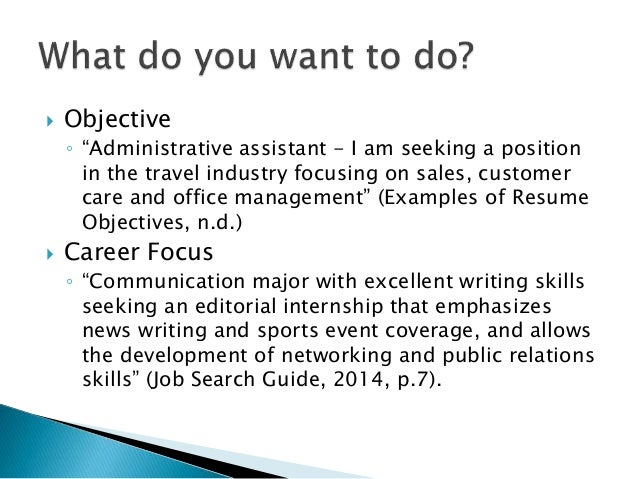 career focus for resume