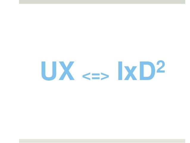 UX <=> IxD2