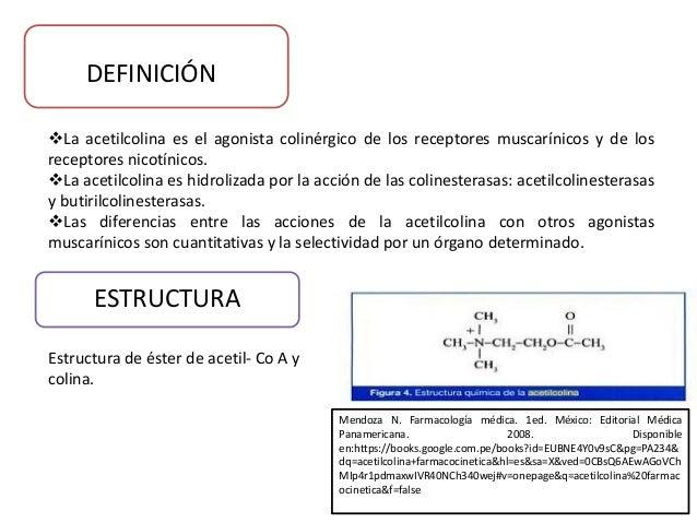 Antagonismo entre acetilcolina y atropina for Definicion de gastronomia pdf