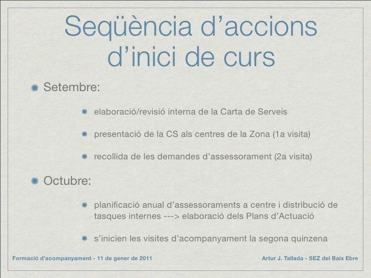 Seqüència d'accions                     d'inici de curs           Setembre:                           elaboració/revisió i...