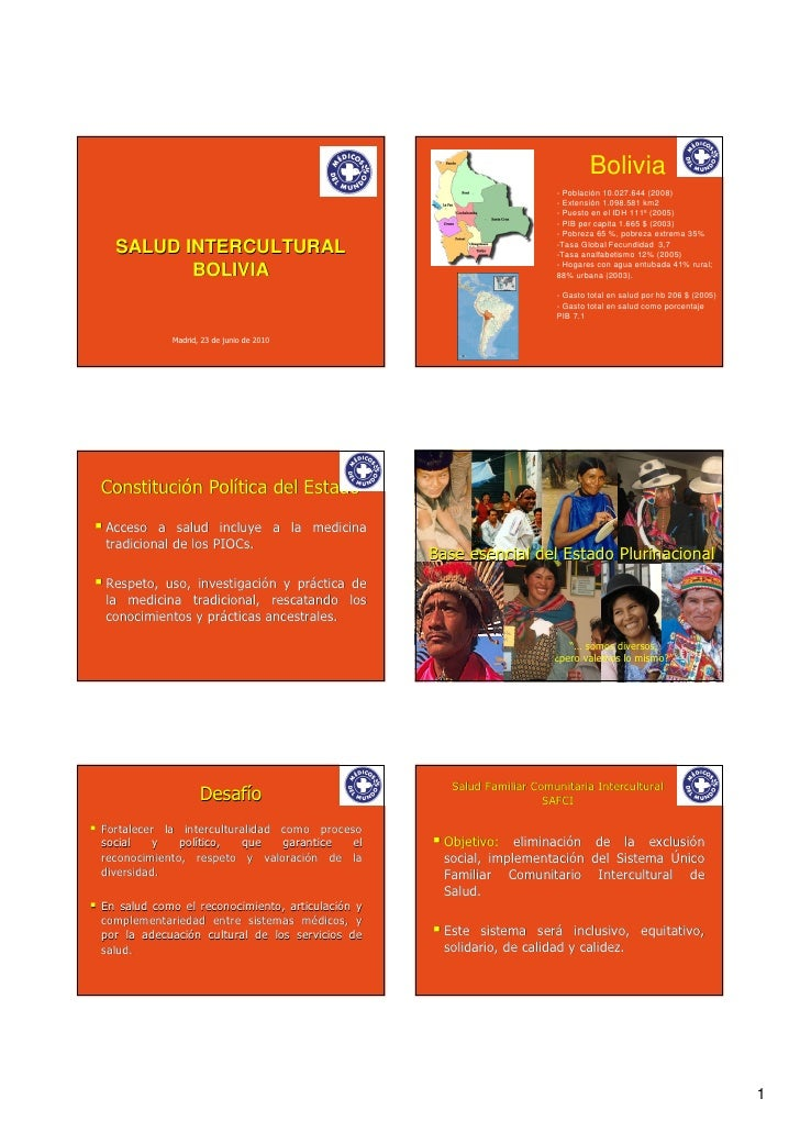 Salud intercultural: la interculturalidad institucionalizada (Bolivia)