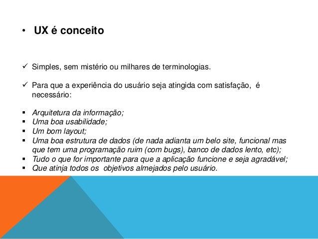 Experiencia do usuario Slide 3