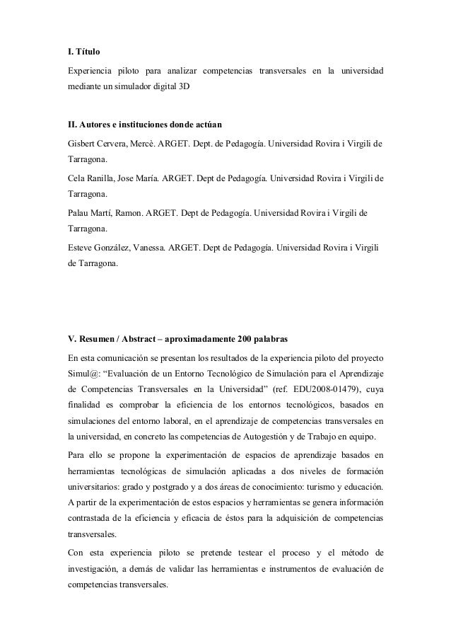 I. Título Experiencia piloto para analizar competencias transversales en la universidad mediante un simulador digital 3D I...