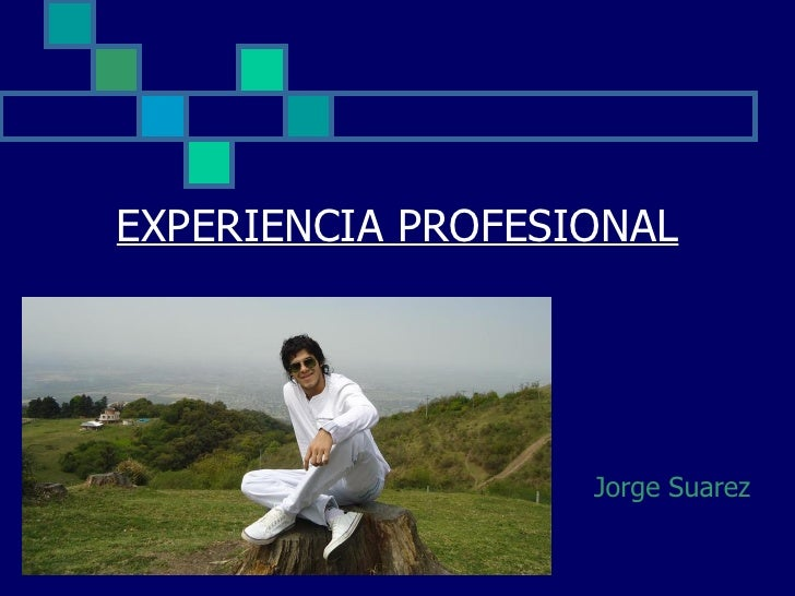 EXPERIENCIA PROFESIONAL                   Jorge Suarez
