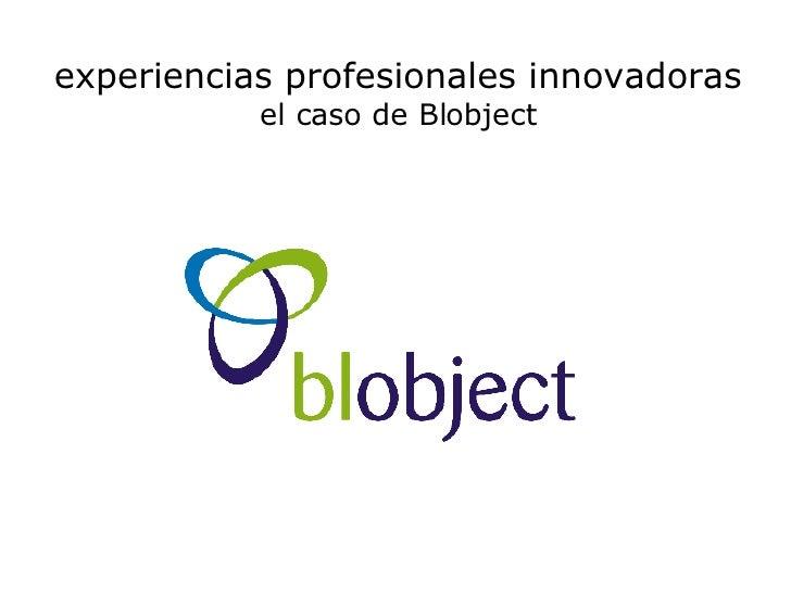 experiencias profesionales innovadoras el caso de Blobject