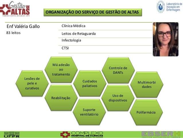 ORGANIZAÇÃO DO SERVIÇO DE GESTÃO DE ALTAS Suporte ventilatório Má adesão ao tratamento Multimorbi dades Polifarmácia Lesõe...