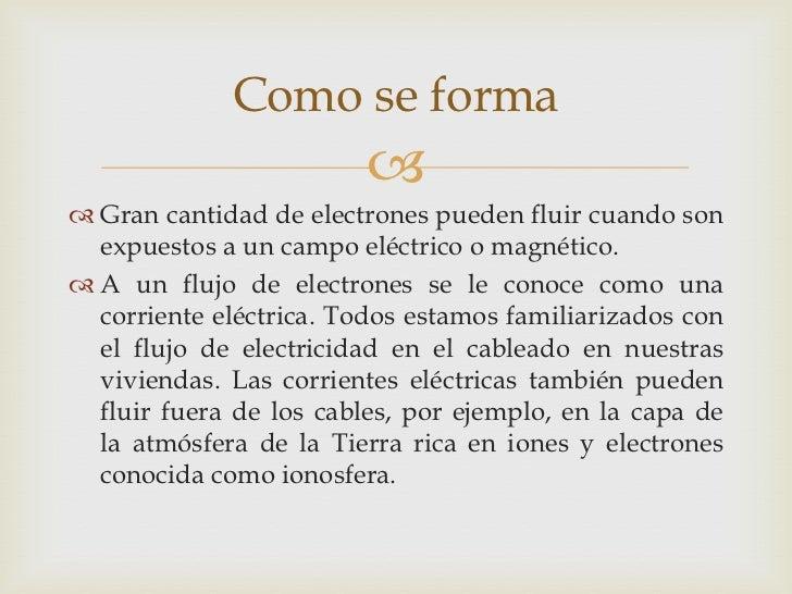 Como se forma                          Gran cantidad de electrones pueden fluir cuando son  expuestos a un campo eléctri...