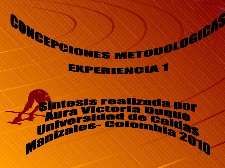 Experiencias modelos intervención en Trabajo Social