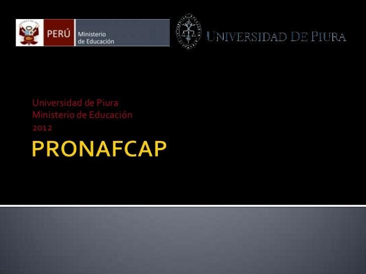 Universidad de PiuraMinisterio de Educación2012