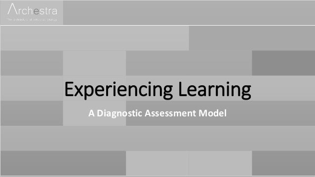 Experiencing Learning A Diagnostic Assessment Model
