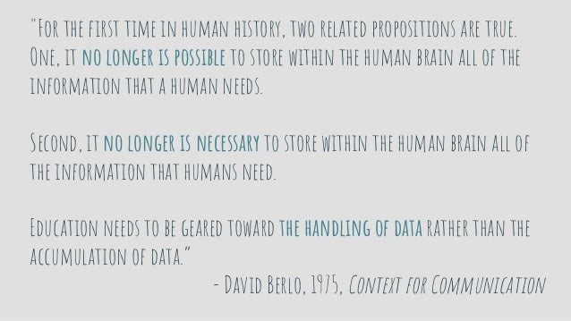 """""""For the first time in human history, two related propositions are true. One, it no longer is possible to store within the..."""