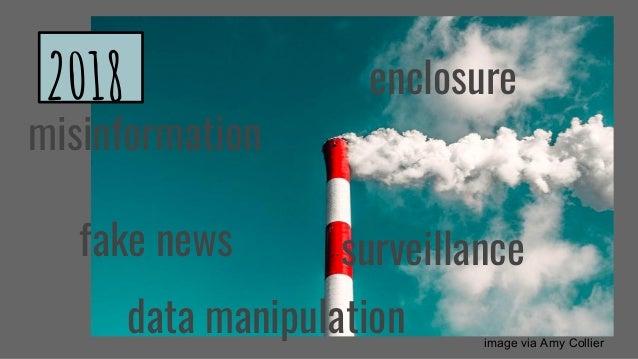 misinformation fake news surveillance data manipulation image via Amy Collier enclosure2018
