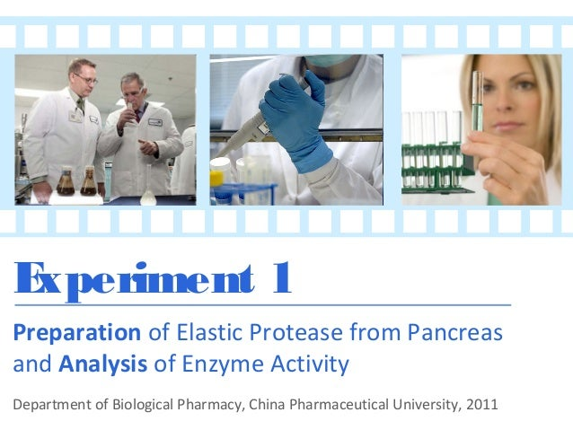 E xperiment 1 Preparation of Elastic Protease from Pancreas and Analysis of Enzyme Activity Department of Biological Pharm...