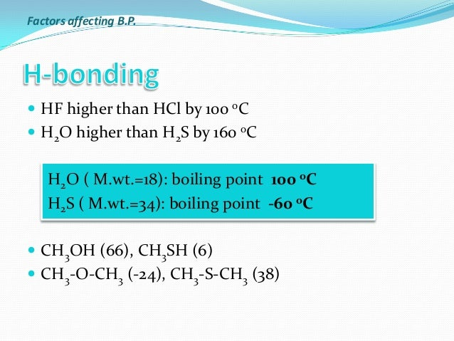 which compound has the highest boiling point