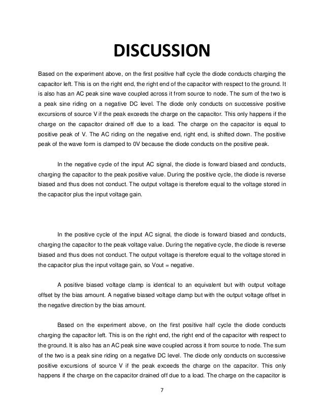 discussion and conclusion lab report