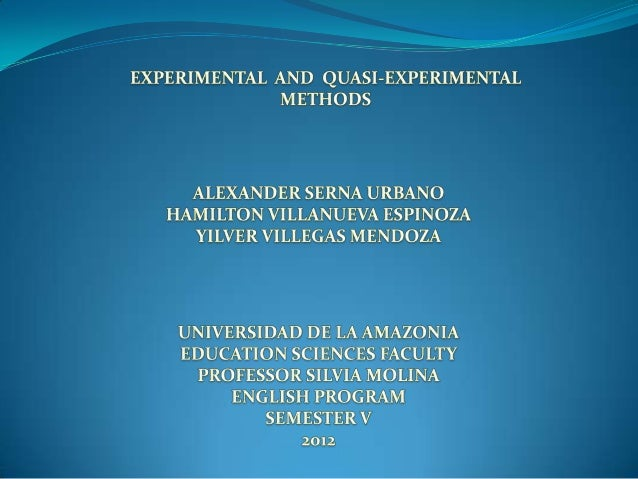 What is an experimental method? Stages of the experimental method Is the experimental method used in the education? The qu...