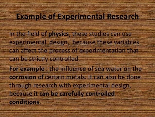 Experimental and quasi experimental research