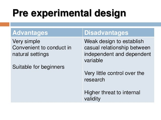 weakness of the posttest only design in research A quasi-experiment is an empirical interventional study used to estimate the causal impact of an intervention on target population without random assignmentquasi-experimental research shares similarities with the traditional experimental design or randomized controlled trial, but it specifically lacks the element of random assignment to treatment or control.