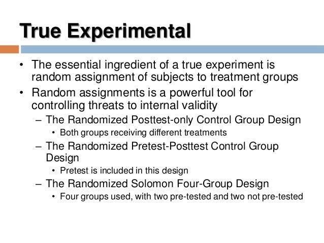 random assignments