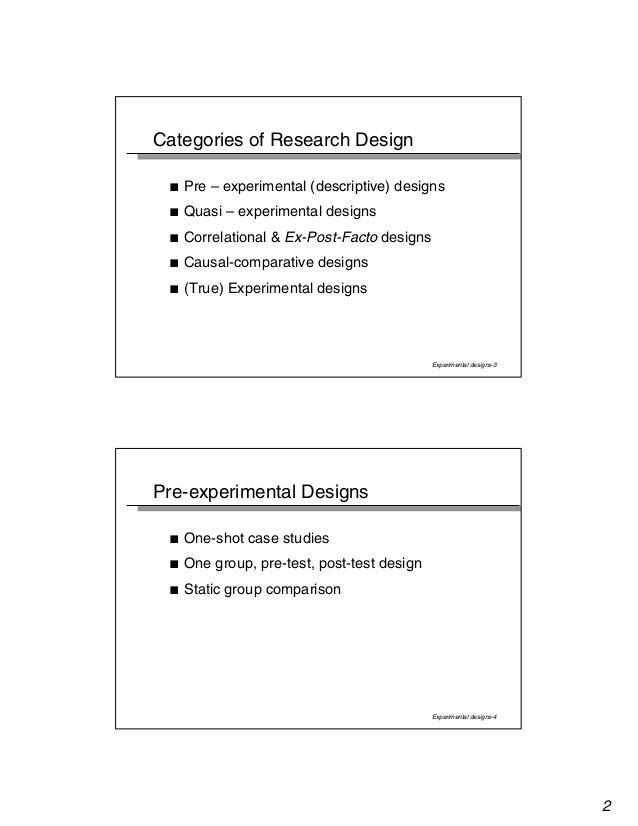 Experimental design Slide 2