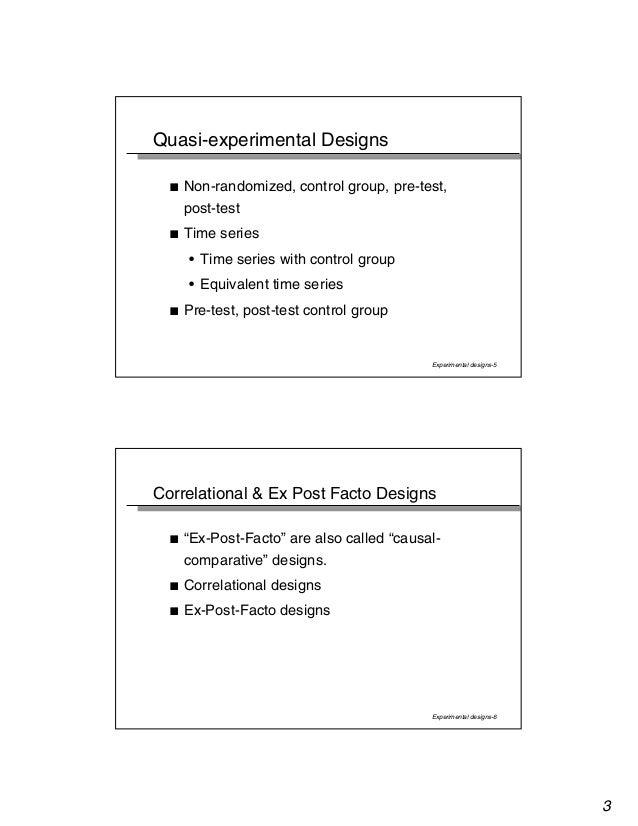 Experimental design Slide 3