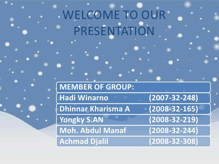 WELCOME TO OUR PRESENTATION<br />