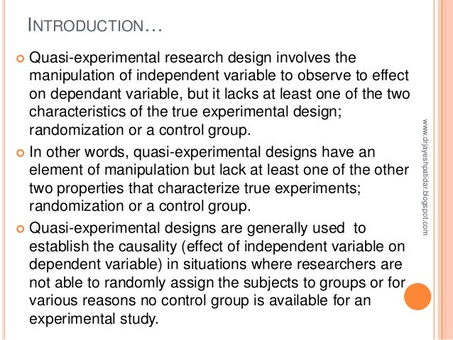 nursing essay quasi experimental design Quasi-experimental designs in practice-based research settings: design and implementation considerations.