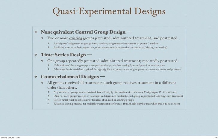 quasi experimental research paper