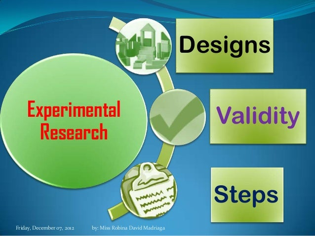 Experimental research methodology report