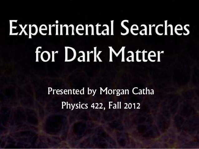 Presented by Morgan Catha   Physics 422, Fall 2012