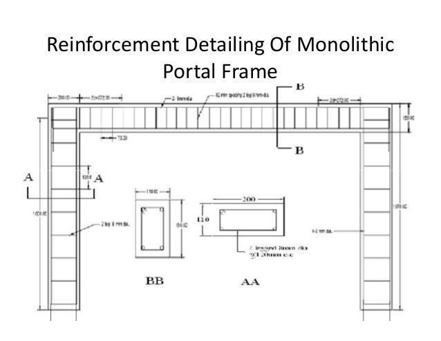 Experimental study of precast portal frame