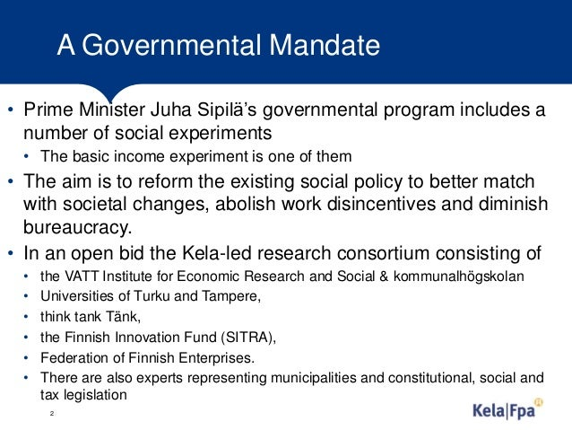 Experimenting with basic income in finland Slide 2