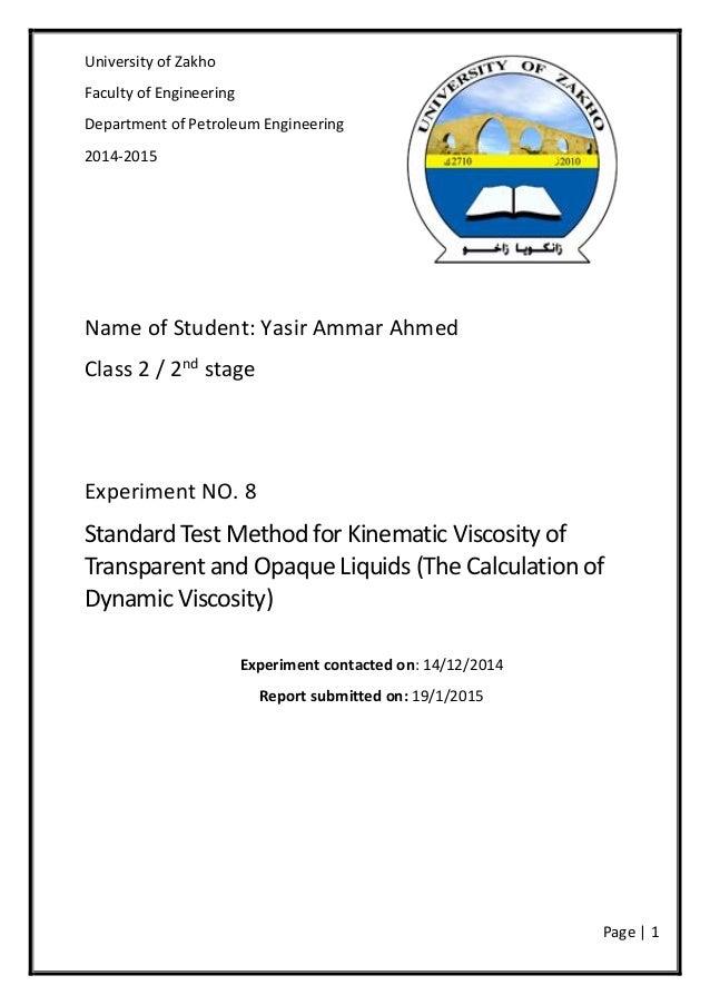 Standard Test Method for Kinematic Viscosity of Transparent