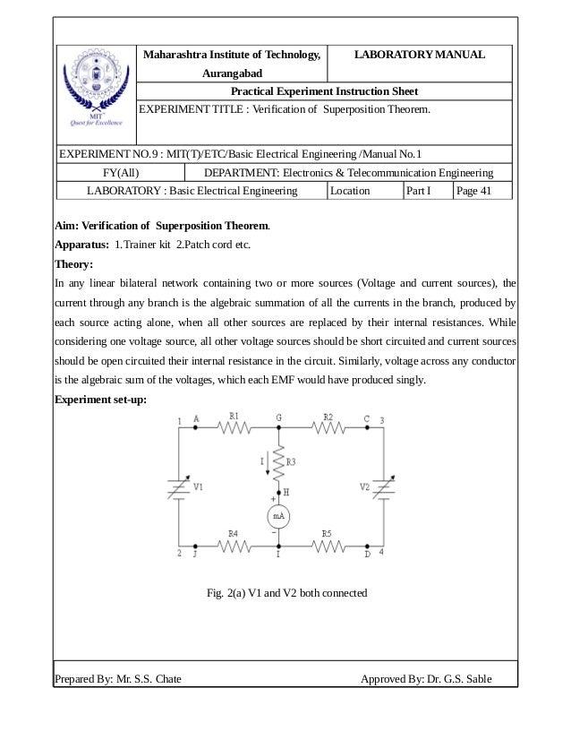 Maharashtra Institute of Technology, Aurangabad LABORATORY MANUAL Practical Experiment Instruction Sheet EXPERIMENT TITLE ...