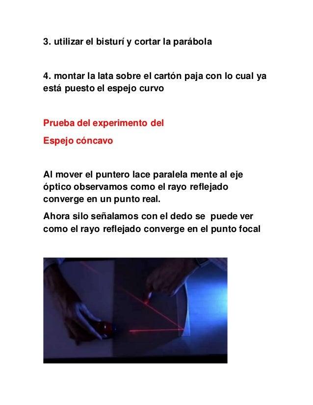 Experimento Espejos Concavos Y Convexos