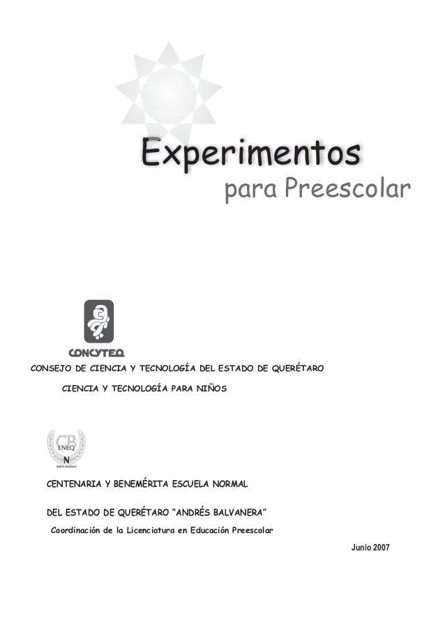 Manual de experimentos para Preescolar Slide 2