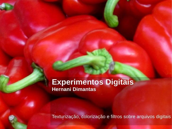 Experimentos DigitaisHernani DimantasTexturização, colorização e filtros sobre arquivos digitais