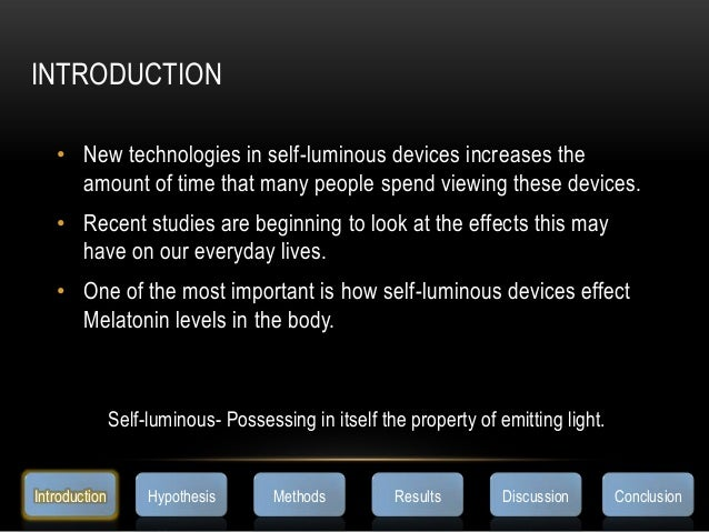 INTRODUCTION• New technologies in self-luminous devices increases theamount of time that many people spend viewing these d...