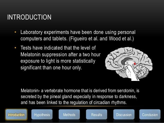 INTRODUCTION• Laboratory experiments have been done using personalcomputers and tablets. (Figueiro et al. and Wood et al.)...