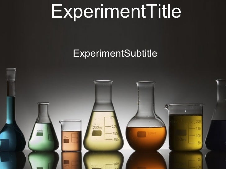 ExperimentTitle ExperimentSubtitle