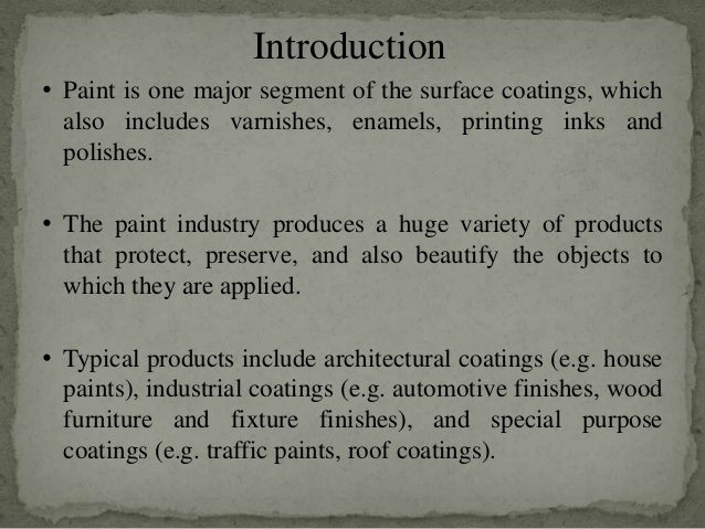 Paint Manufacturing Process