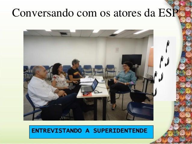 Conversando com os atores da ESP COORDENAÇÃO COLEGIADA DO CURSO
