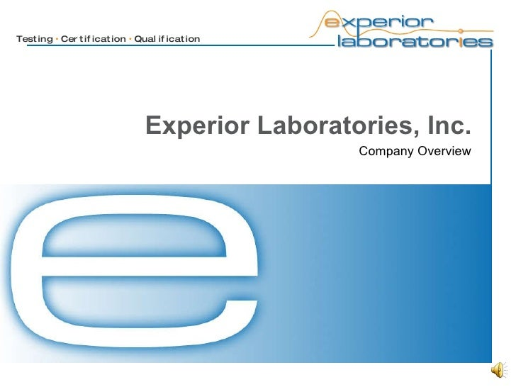Experior Laboratories, Inc. Company Overview