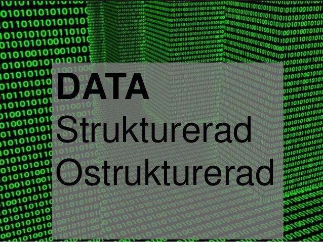 DATA Strukturerad Ostrukturerad