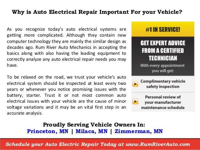 Auto Electrical Repair Shop near Princeton MN - Rum River Automotive