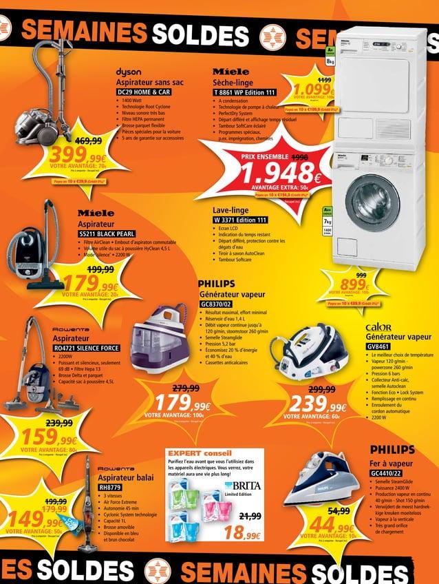 NES SOLDES SEMAINES S SEMAINES SOLDES SEMAINES S 399,99€ 469,99 Prix à emporter - Recupel incl. VOTRE AVANTAGE: 70€ 1.099€...