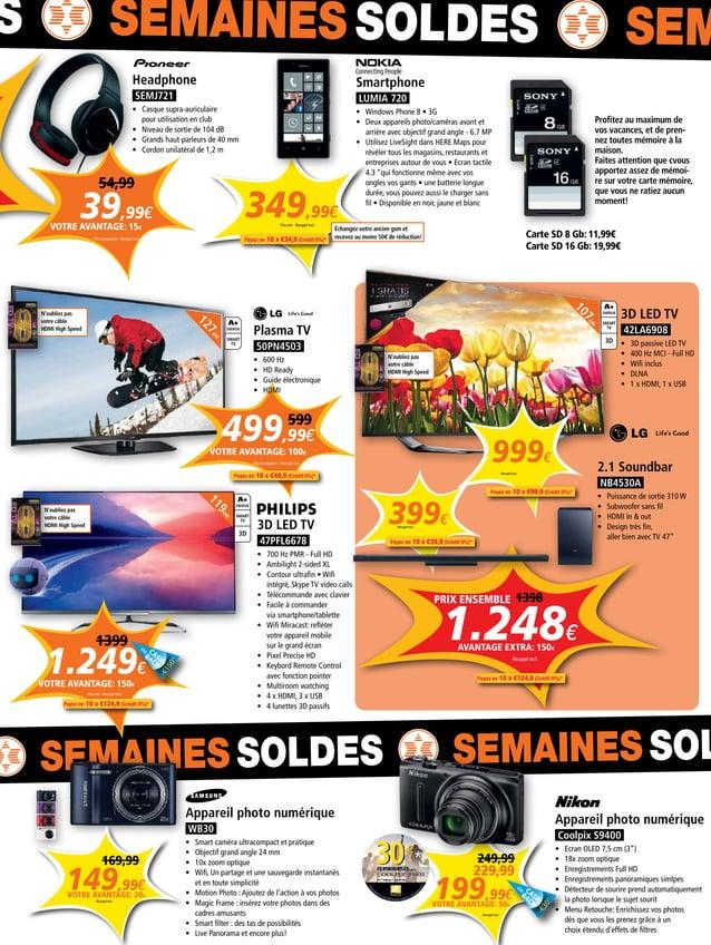 1.248€ Recupel incl. PRIX ENSEMBLE 349,99€ Prix net - Recupel incl. Smartphone LUMIA 720 • Windows Phone 8 • 3G • Deux a...