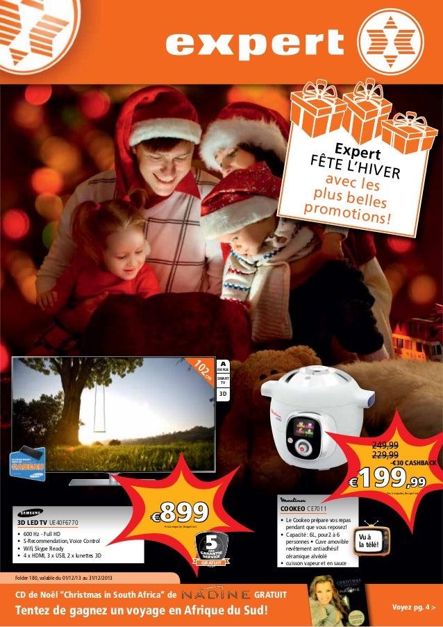 Expert fête l' hiver avec le plus be s promot lles ions!  m  2c  10  A ENERGIE  SMART TV  3D  249,99 229,99  -€30 CASHBACK...